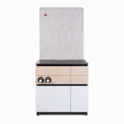 Cabinet 90cm White Wood 1_1