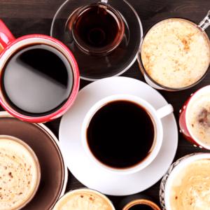 Kaffe og drikkebægere
