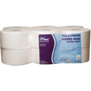 104757 300x300 - Toiletpapir Pristine Extra soft jumbo mini 2 lag nyfiber 160 meter. Diameter 18