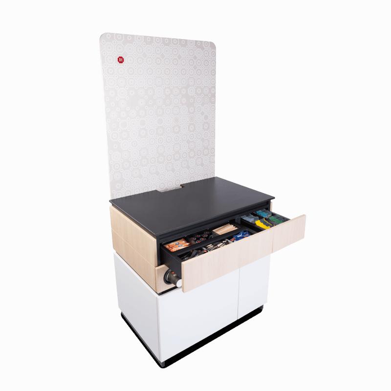 Cabinet 90cm White Wood 3 1 - Produkt kategori