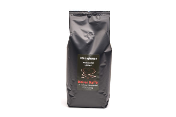 Kaiser Kaffe 1kg Kaiser Blend 13234 600x400 - Helbønne -  Kaiser Blend 1 kg